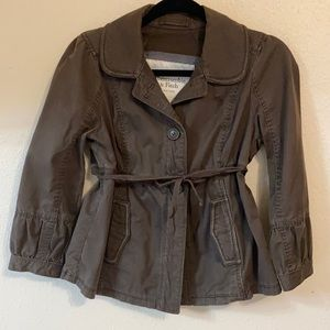 Abercrombie and Fitch Dark Army Green Jacket Small
